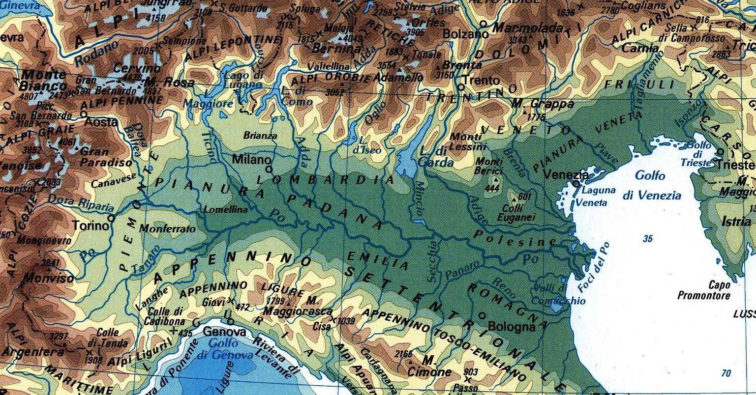 Cartina Fisica Nord Est Italia.Homepage Alpadin